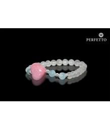 Hearts Crystal Rhodonite +Moonstone Bracelet