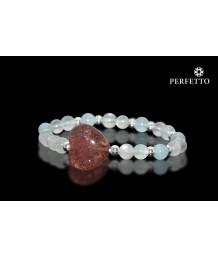 Hearts Crystal Strawberry Quartz+Moonstone