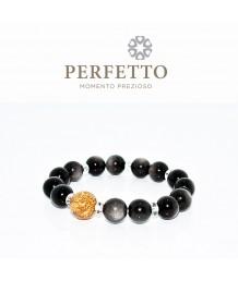 Silver Sheen Obsidian Bracelet