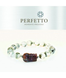 AURALITE 23 PIXIU + BLACK PHANTOM + BLACK RUTILATED QUARTZ(SYMBIOTIC) BRACELET