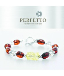 GOLDEN TITANIUM RUTILATED PIXIU + BLOOD AMBER BRACELET