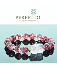 Purple Rutilated Pixiu+ Lepidocrocite Bracelet
