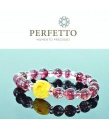 Amber Flower + Lepidocrocite Bracelet