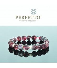 925 Sterling Charm + Lepidocrocite Bracelet