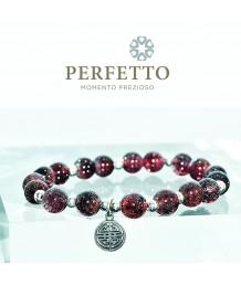 925 Sterling Silver Dangle + Lepidocrocite Bracelet