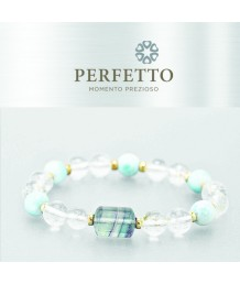 FLUORITE + SNOW PHANTOM RUTILATED QUARTZ W/ LARIMAR BRACELET