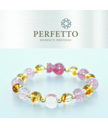 SUPER SEVEN LEPIDOCROCITE PIXIU+ CITRINE W/ STRAWBERRY QUARTZ  BRACELET