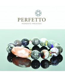 Sakura Agate Bead +Sugilite Bracelet