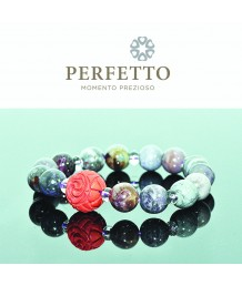 Cinnabar Rose +Sugilite Bracelet