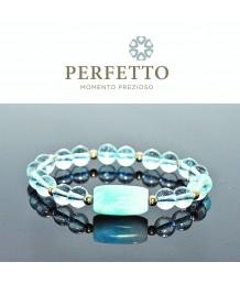 Larimar+ Blue Topaz Bracelet