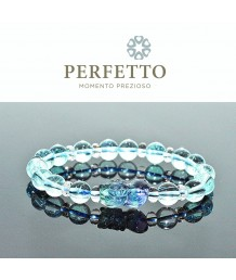 Flourite Pixiu+ Blue Topaz Bracelet